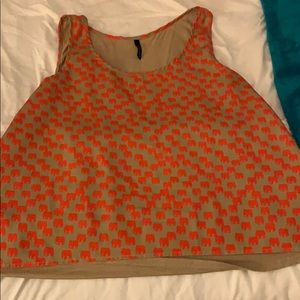 Orange elephant cropped tank top